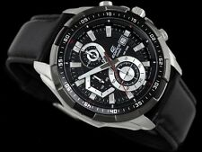 Casio Edifice Imported EFR-539L Black Leather strap Men's watch
