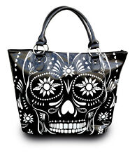 JAWBREAKER DAY OF THE DEAD TOTE TATTOO GOTHIC PUNK HANDBAG PSYCHOBILLY PURSE BAG