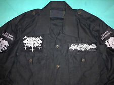 Satanic Warmaster Black Metal Ejército Camisa Horna Beherit Behexen Archgoat Goatmoon