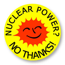 Pin Button Badge Ø38mm Nuclear Power Nucleaire Green Peace Uranium Radioactif
