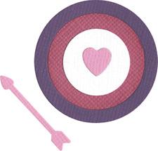 QuicKutz Lifestyle Crafts 2x2 Duo Die BULLSEYE Valentine, Target, Arrow  KS-0792