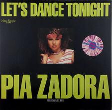 """Pia Zadora - Let's Dance Tonight - 12"""" Maxi - K956 - Multi-Colored Vinyl"""