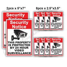 10x CCTV Video Surveillance Security Camera Alarm Sticker Warning Decal Signs 02