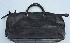 NEW**Argentinian Calf Leather***HALO***Gray X-Large Luggage Duffle Bag***$1495