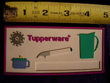 VINTAGE TUPPERWARE CONSULTANT NAMETAG FRIDGE MAGNET