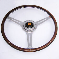 "Wolfsburg Steering Wheel T2 Wood Rim Bay Window VW Late Bus Camper 16"" AAC"