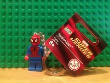 LEGO SUPER HEROES SPIDER MAN KEY RING.{850507] NEW WITH TAGS