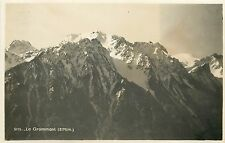 Le Grammont Switzerland Suisse mountains peaks real photo postcard