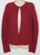 Womens Eileen Fisher Kid Mohair blend Cardigan sweater button front – Red – XS