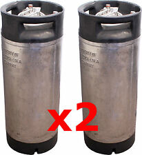 2x 19Litre Pin Lock Home Brew Post Mix Coca Cola Beer Keg Kegs Disconnects