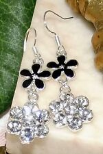 Colorful Rhinestone Crystals Flower Earring new
