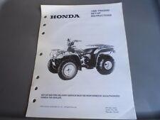 Honda Factory Maintenance Repair Set-Up Instructions Manual 1996 TRX200D MPD6961