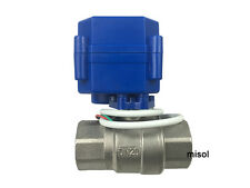 "motorized ball valve 3/4"" NPT, DN20,2 way 12VDC CR04, stainless steel electrical"