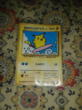 Pokemon Surfing Pikachu Japanese CoroCoro Comic 1997 Glossy PLAYED Promo Card