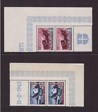 II. Weltkrieg, WK Serbien, 95+98 4 Plattenfehler, postfrisch (21428)