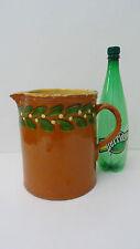 Ancien grand Pot Pichet terre vernissée poterie de Savoie art pop Pitcher jug