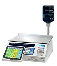 30 x 0.01 lb LABEL PRINTING SCALE with POLE DISPLAY, NTEP CAS LP1000NP