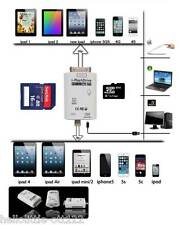 UNIVERSAL I-FLASH DRIVE TF SD CARD READER FOR IPHONE 4S/5/5S/5C/6 IPAD2/3/4/AIR