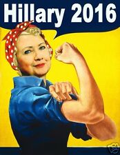2016 Hillary Clinton, Refrigerator Magnet, 40 MIL Thick