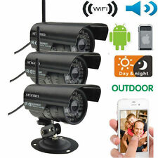 3 Pieces Waterproof Outdoor Wireless WIFI Day/Night IP Camera Motion Detection