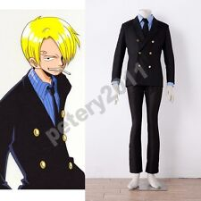 Custom-made One Piece Sanji Black Uniform Cosplay Costume New Halloween