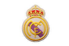 "REAL MADRID  SOCCER FOOTBALL IRON-ON PATCH CREST BADGE..2 1/4""X 3"" IN."