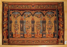 5'x7' Antique Repro French Aubusson Tapestry Pictorial #8090