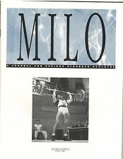 Milo Bodybuilding Strongman Weightlifting Magazine Tommy Kono 4-96 vol 4 #1