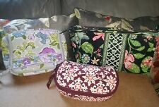 VERA BRADLEY MIXED LOT OF 3 TRAVEL COSMETIC TOILETRY BAGS