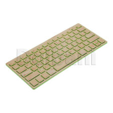 New Wireless Bamboo Keyboard QWERTY US Green Desktop Laptop PC Mac