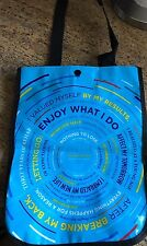 Lululemon Reusable Shopping Bag Aqua Blue ONE SMALL NWOT Limited Edition