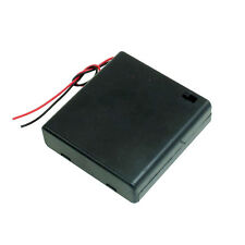 CAJA PARA BATERIAS PILAS 4 x AA PORTAPILAS INTERRUPTOR BATTERY HOLDER SWITCH