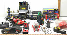 Vintage Tether Remote Control Electric Toys Wheelie Truck+Godzilla+Train+Bot