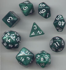 NEW Special RPG Dice 9pc - Pearl Green - standard set plus D24 & D30
