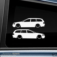(978) 2x Fun Sticker Aufkleber / low and Slow BMW E46 Touring M3 Motorsport
