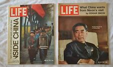 Vintage Lot of 2 LIFE Magazine China Front Cover Issues 1971 magazine art