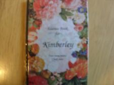 "personalised address book ""kimberley"" new"
