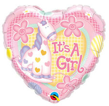 It's A Girl Helium Balloon Decoration Gas Kids Party Foil Air Baby Shower Heart