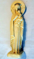 Statuette Our Lady Perpetual Help Cast Chalk France PP Depose FREE Card&Leaflet