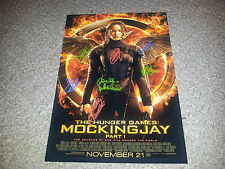 "THE HUNGER GAMES : MOCKINGJAY PT1 CASTX7 PP SIGNED 12"" X 8"" A4 PHOTO POSTER"