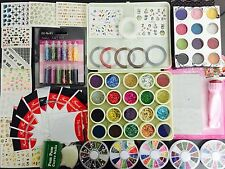 Nail Art Kit #1. Complete set for Birthday Christmas gift Girls Women.Stamping.