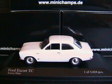 FORD ESCORT I TC TWINCAM 1968 ERMINE WHITE MINICHAMPS 400081070 1/43 RHD RIGHT