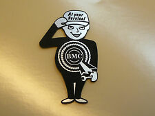 BMC Service Man Fridge MAGNET Gift Rosette Mini Cooper MG Austin Riley Morris