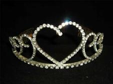 VINTAGETriple  Heart Motif Pageant Rhinestone Tiara/Crown~Statues or Display
