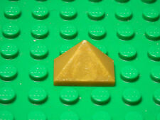 LEGO LEGOS  -  One NEW Castle Slope 45 2 x 1 Triple  PEARL GOLD