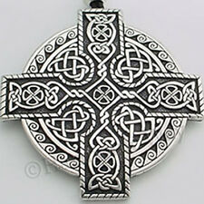 CELTIC KINGS CROSS Pendant Necklace DETAILED KNOTWORK VERY LARGE
