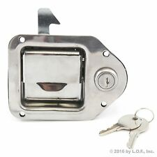 "Toolbox Lock Stainless Door Key Latch Paddle Handle RV Trailer 4-3/8"" x 3-1/4"""