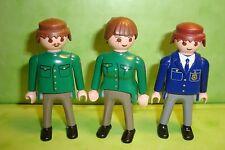 Playmobil : Lot de 3 personnages de police playmobil