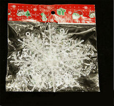 30Pcs Classic White Snowflake Ornaments Christmas Holiday Party Home Decors H7