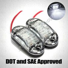PAIR E-MARK TRUCK TRAILER CAMPER LED SIDE CLEARANCE MARKER LIGHTS LAMP WHITE 12V